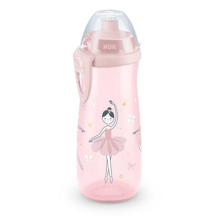 NUK Drinkfles Sports Cup motief: Ballerina 450 ml met Push-Pull tuit