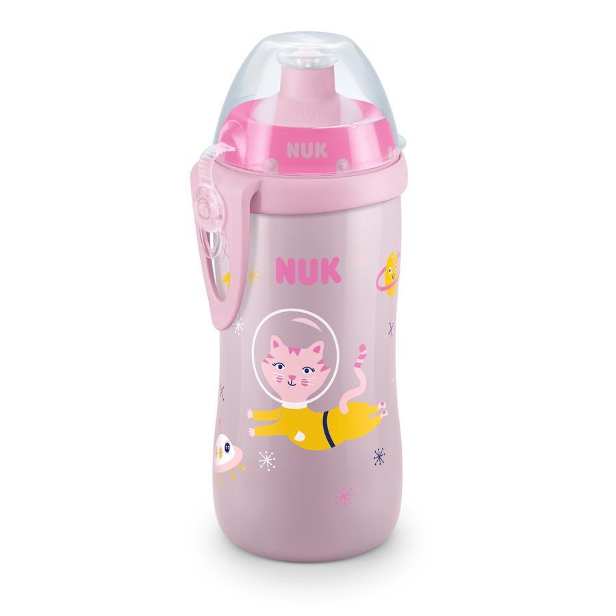 NUK Drinkflaska Junior Cup-motiv: Cat 300 ml med Push-Pull-pip från 36: e månade
