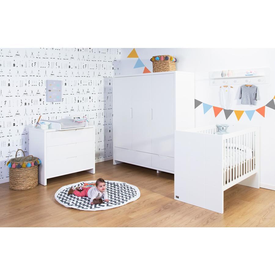 CHILDHOME Kinderzimmer Quadro White 70 x 140 cm 3-türig