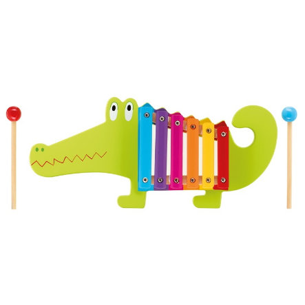 NICI Muziekinstrument Xylofoon Krokodil 46019