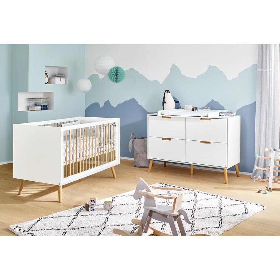 Pinolino Ensemble lit bébé commode à langer Edge blanc