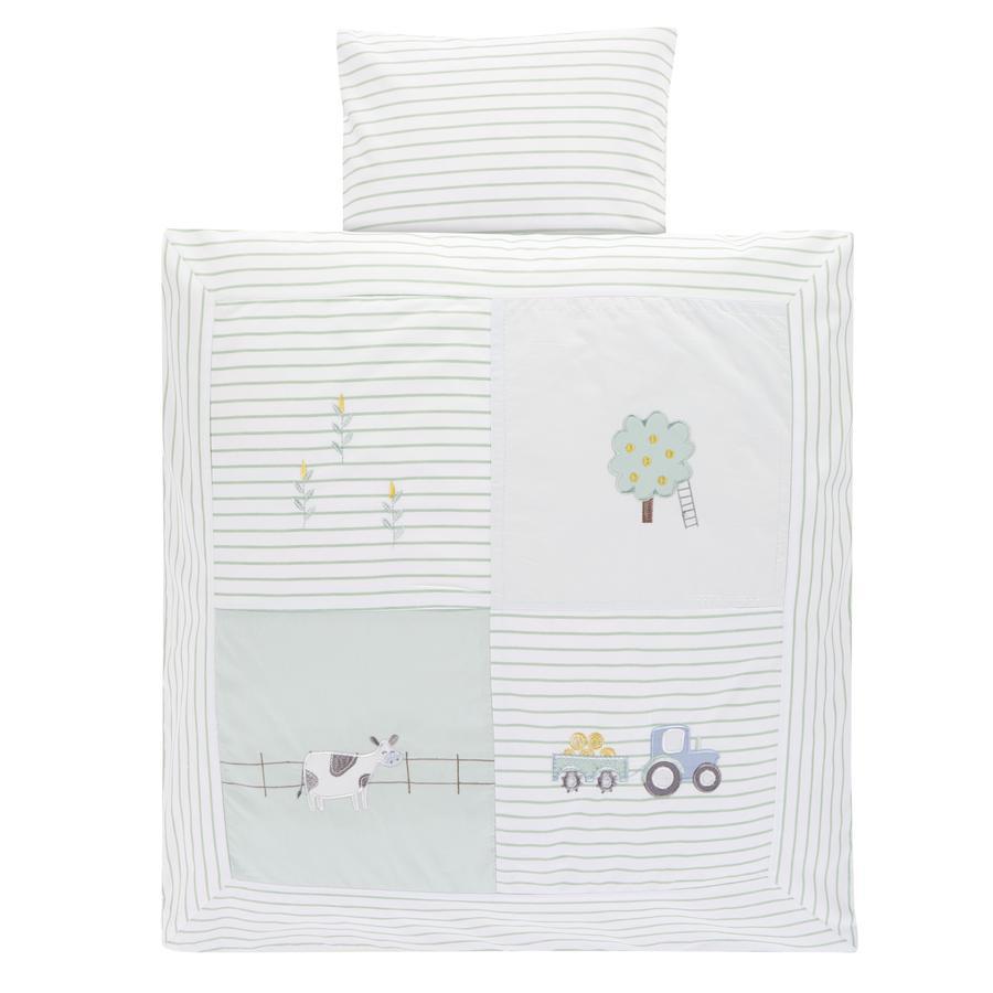 Alvi® Parure de lit enfant ferme 80x80 cm