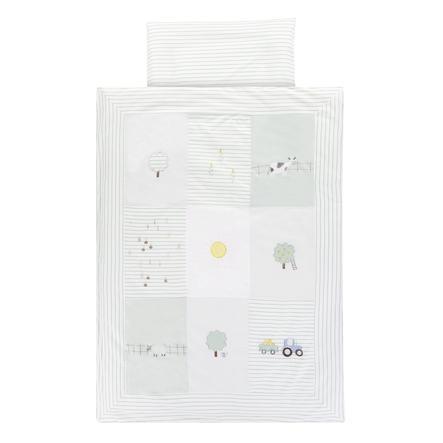 Alvi® Parure de lit enfant ferme 100x135 cm