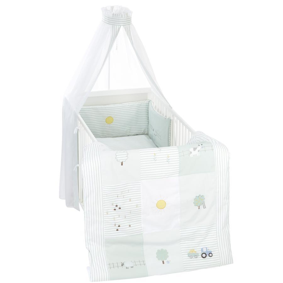 Alvi® Parure de lit enfant ferme 3 pièces 100x135 cm