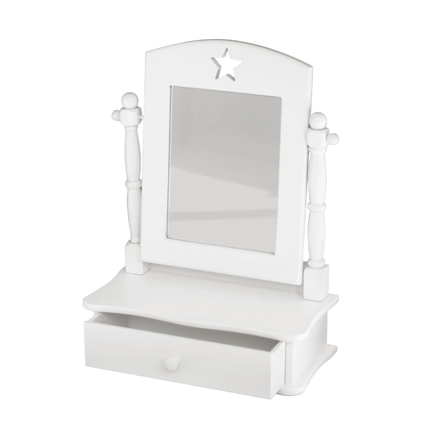 KIDS CONCEPT Vanity Mirror Star, white