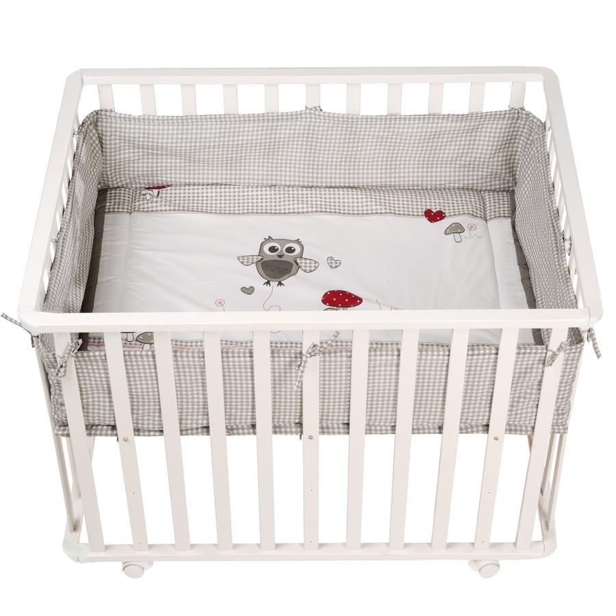 roba Parc bébé Adam et Chouette, 75x100 cm, blanc
