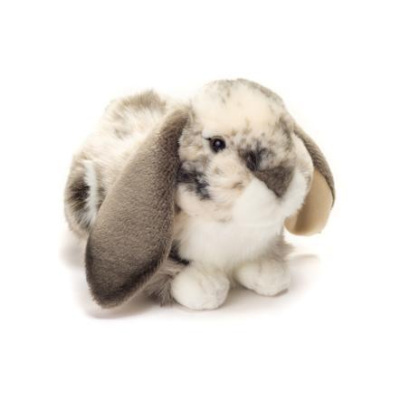 Teddy HERMANN ® conejo acostado gris-blanco, 30 cm