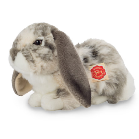Teddy HERMANN® Wild konijn liggend grijs/wit, 30 cm