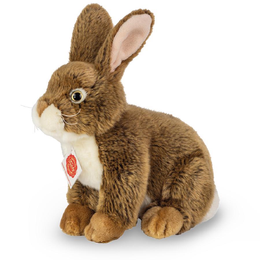 Teddy HERMANN ® Bunny sedící tmavě hnědá, 25 cm