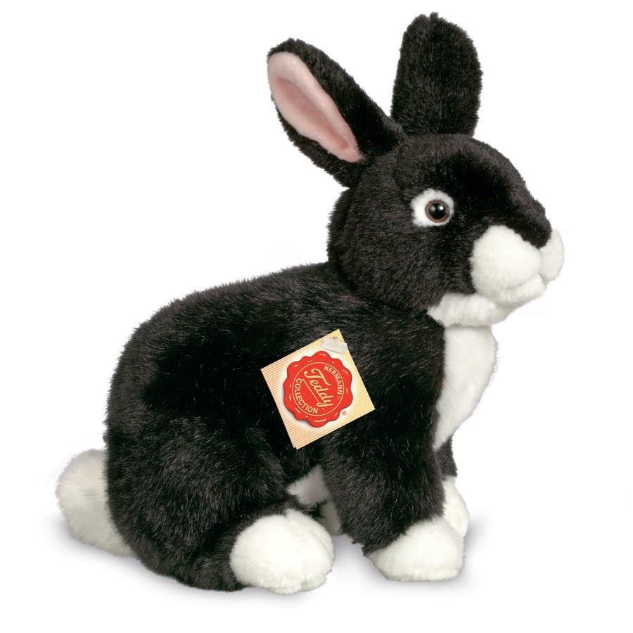 Teddy HERMANN ® Conejo sentado negro, 25 cm