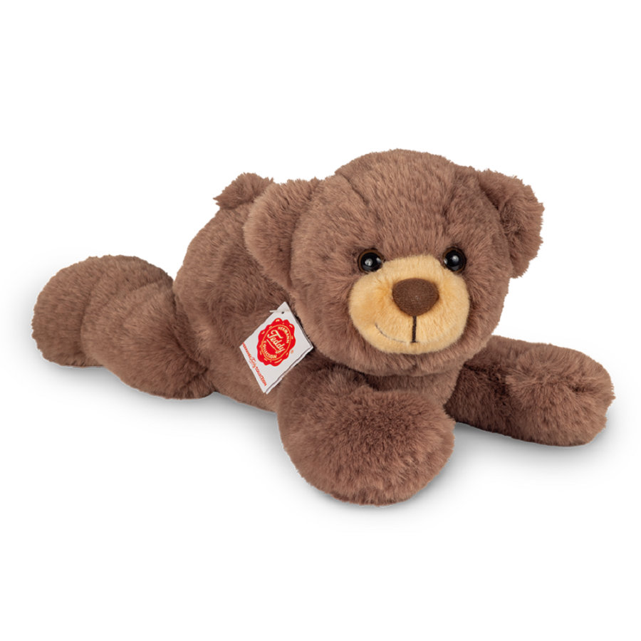 Teddy HERMANN ® Orsacchiotto sdraiato marrone cioccolato, 32 cm