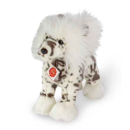 Teddy HERMANN ® Chocholatý pes stojící, 25 cm