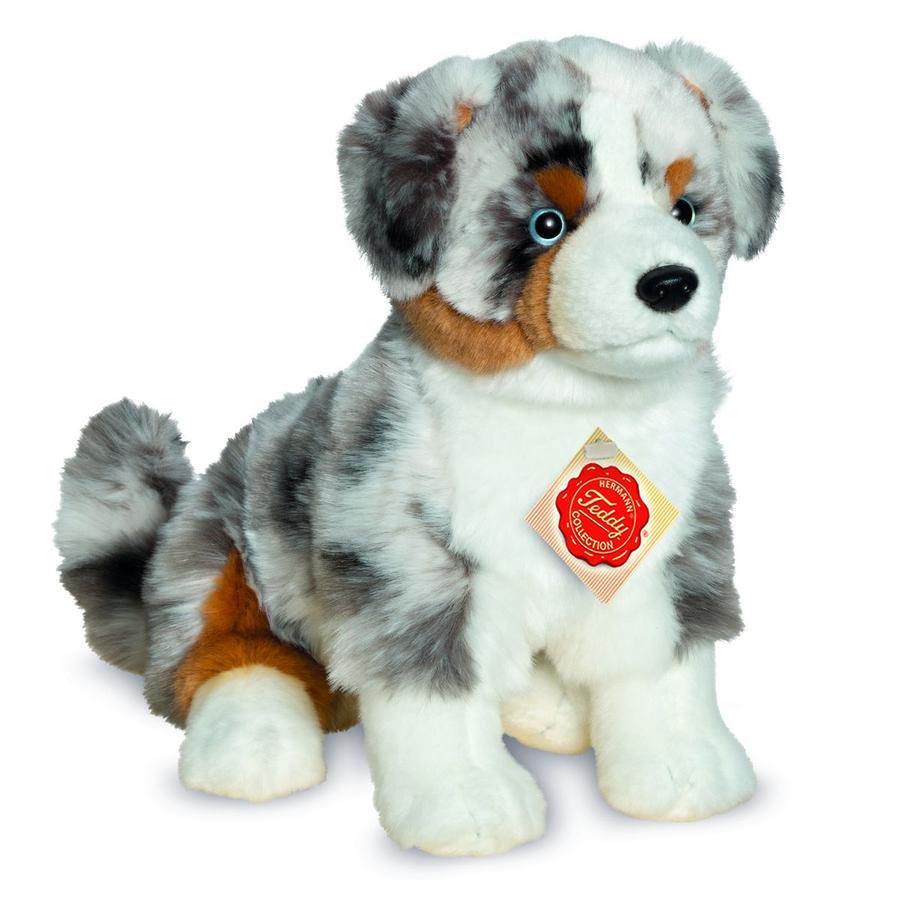 Teddy HERMANN® Peluche chien berger australien assis 30 cm