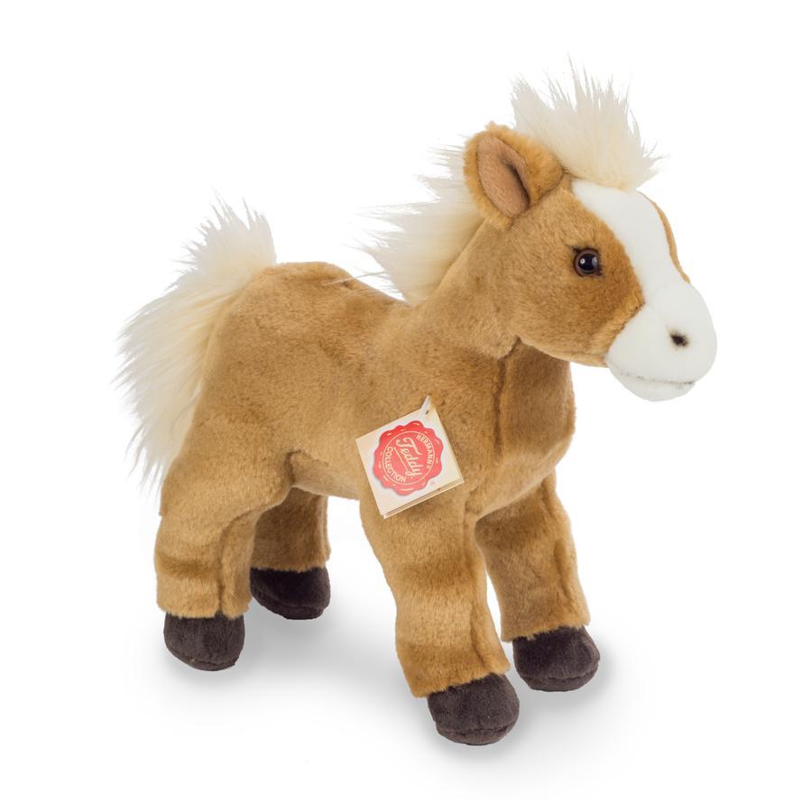 Teddy HERMANN ® stojící na koni, 25 cm
