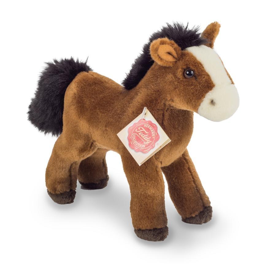 Teddy HERMANN® Peluche sonore cheval rouge-brun, 19 cm