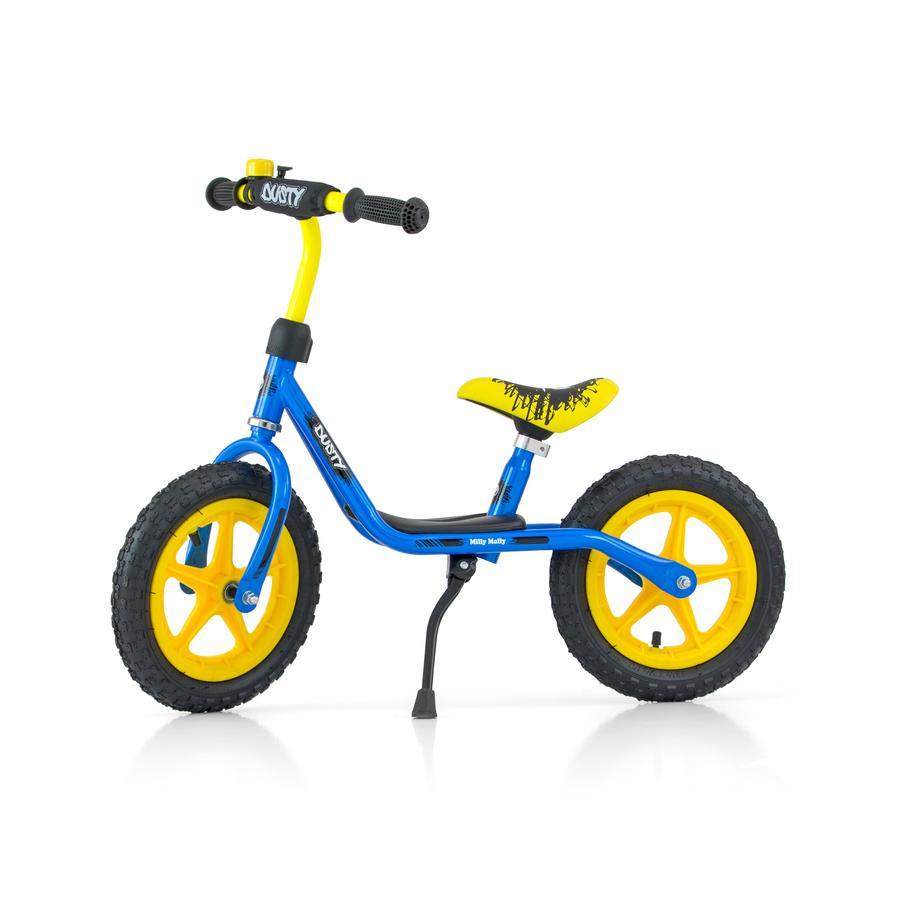 """Milly Mally Løbecykel Dusty 12"""" blå-gul"""