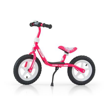 """Milly Mally Rowerek biegowy Dusty 12"""" różowo-biały"""
