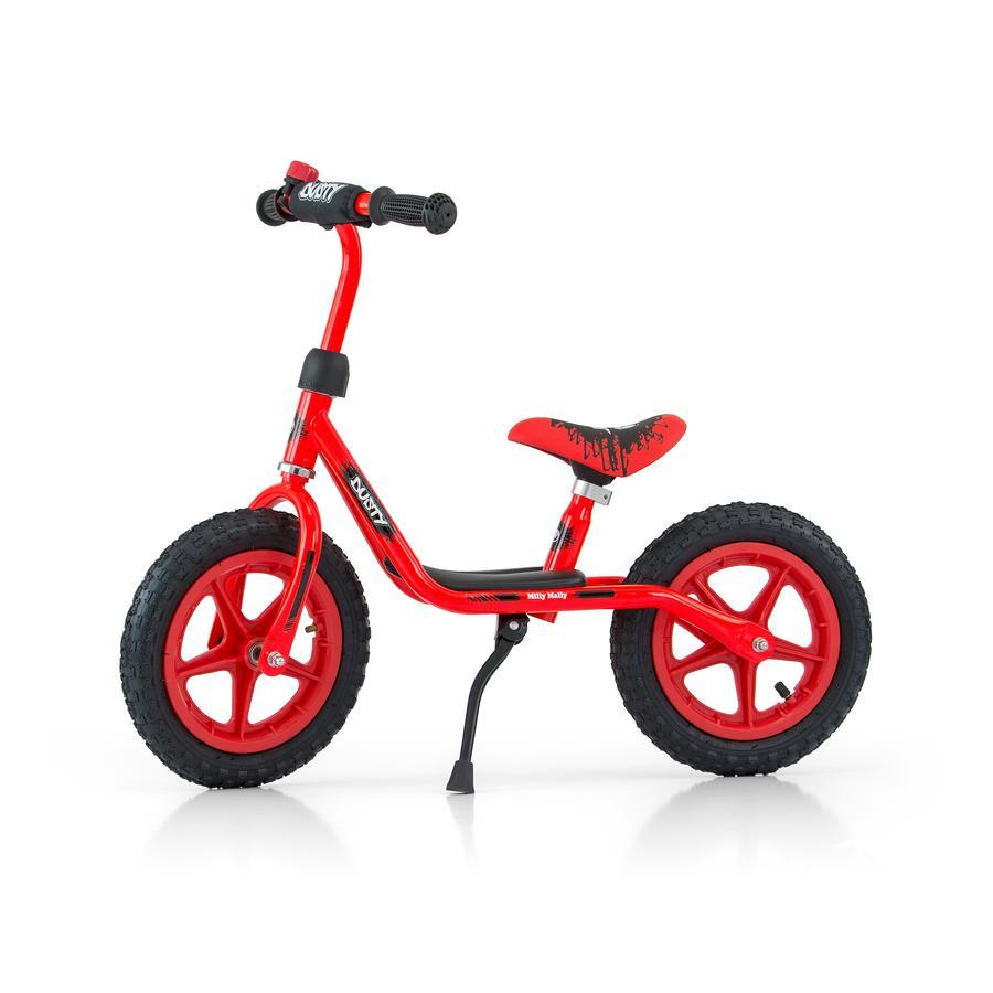"""Milly Mally Rowerek biegowy Dusty 12"""" czerwony"""