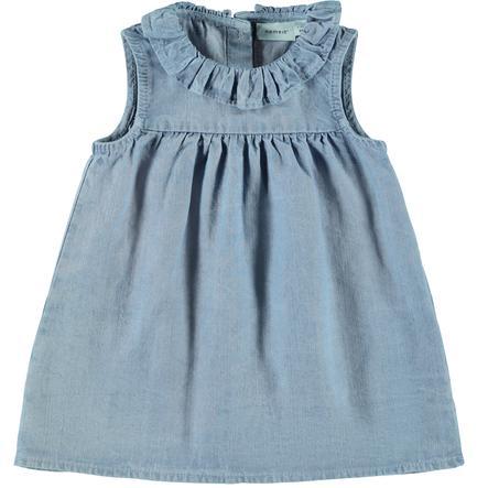 name it Girls Dress Nbfatytte lyseblå denim