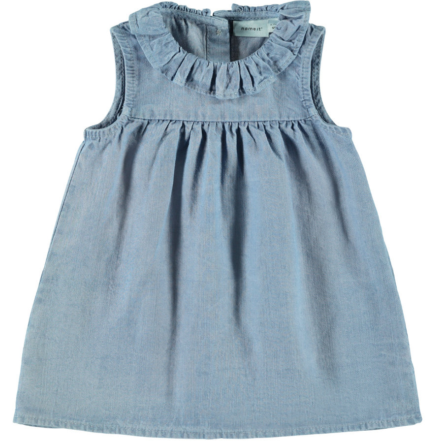 name it Girls Kleid Nbfatytte light blue denim