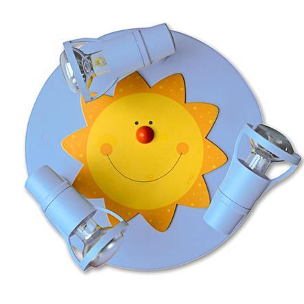 WALDI Taklampa - Sol, ljusblå 3 lampor