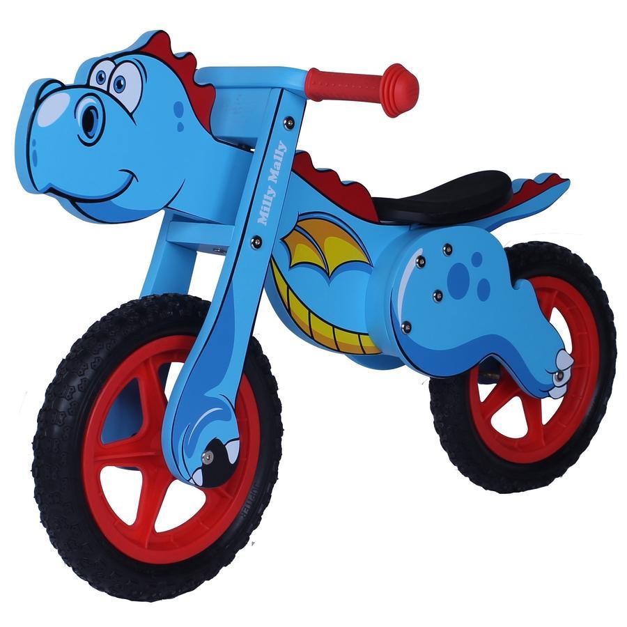 Milly Mally Draisienne enfant évolutive dinosaure bleu 12 pouces bois