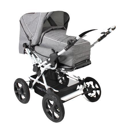 CHIC 4 BABY Kombi-Kinderwagen VIVA Melange Grau-Weiß