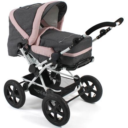 CHIC 4 BABY Kombi-Kinderwagen VIVA Melange Rosa