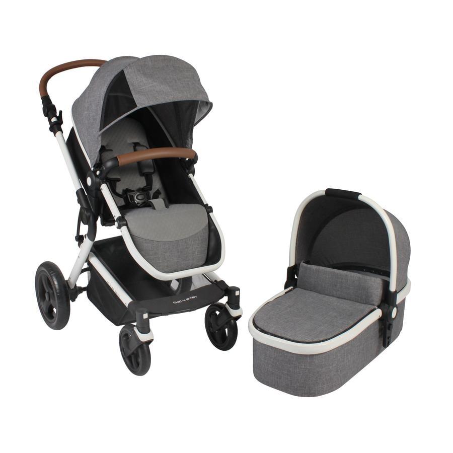CHIC 4 BABY Kombi-Kinderwagen PASSO Melange Grau