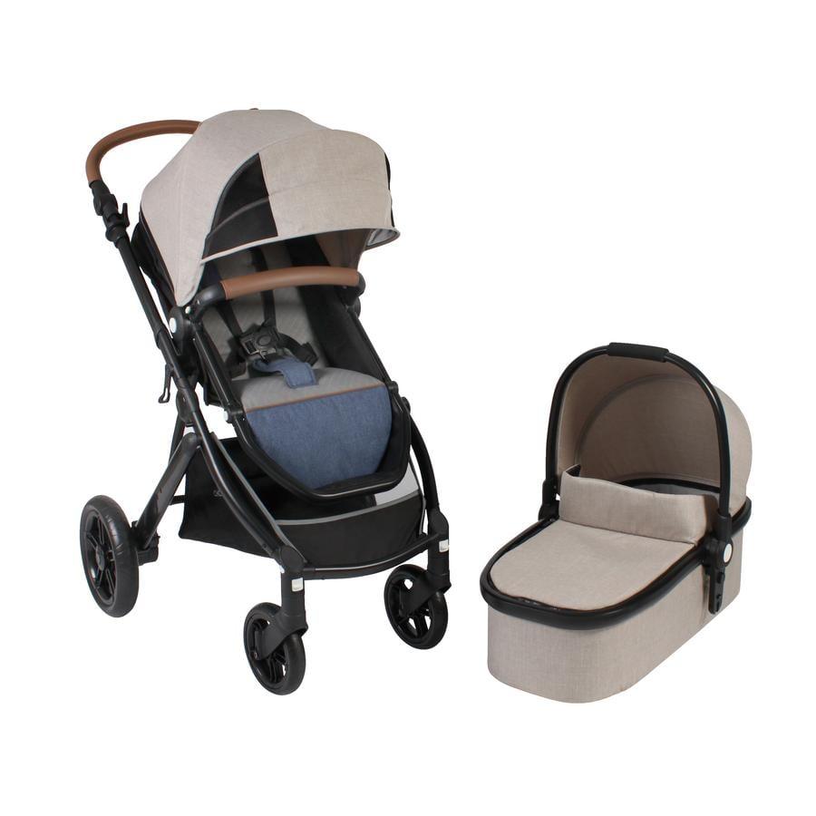 CHIC 4 BABY Combi Kinderwagen TORRE Jeans beige