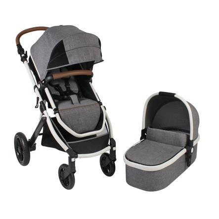 CHIC 4 BABY Combi Kinderwagen TORRE Melange grijs