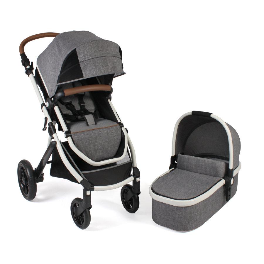 CHIC 4 BABY Kombi-Kinderwagen TORRE Melange Grau