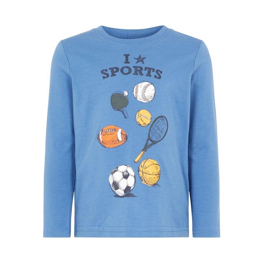name it Camisa de manga larga para chicos Vagno Victor azul holandés