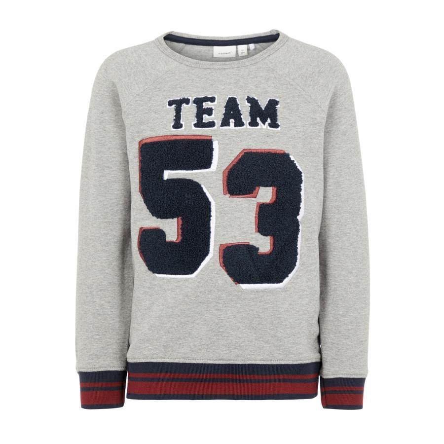 name it Sweatshirt pour garçons Olai gris melange