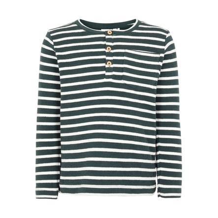 name it Jongens shirt met lange mouwen Vale green gevels