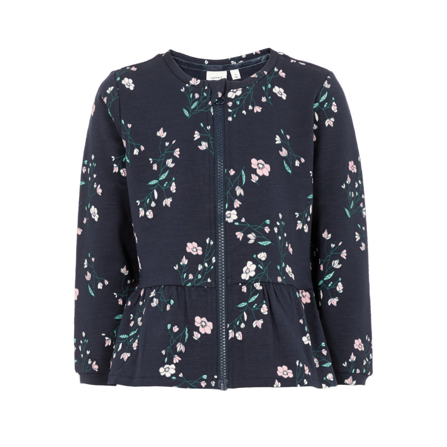 name it Girls Sweatjacket Nanna saphir foncé