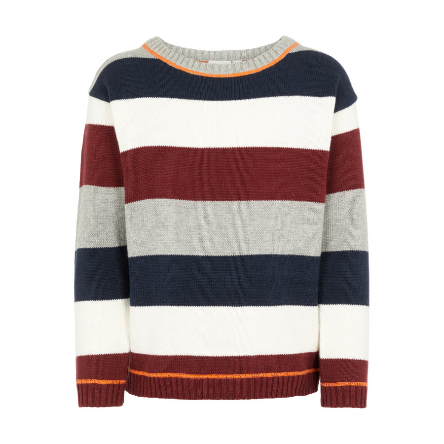 name it Drenge strikket sweater Dejlig grå melange