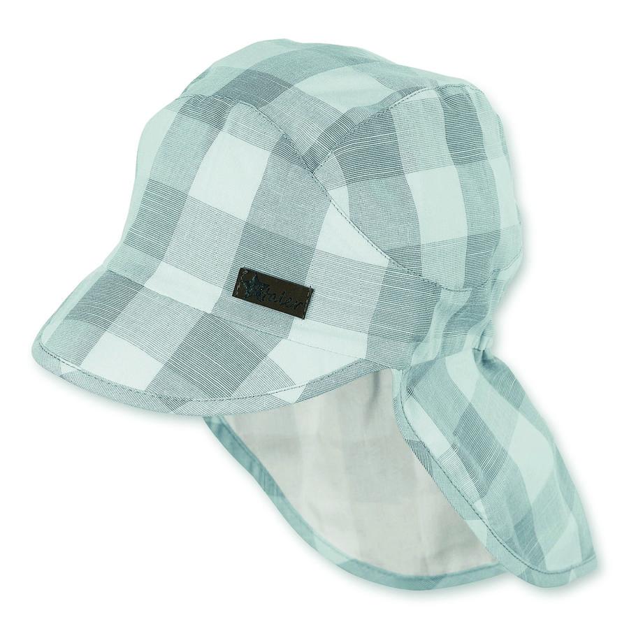 Sterntaler Schirmmütze mit Nackenschutz grau