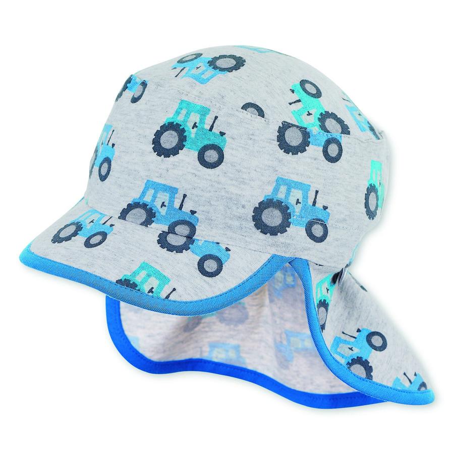 Sterntaler czapka z daszkiem z ochroną szyi srebrna