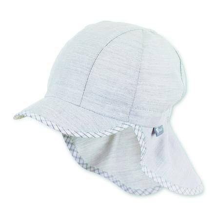 Sterntaler Schirmmütze mit Nackenschutz lichtgrau