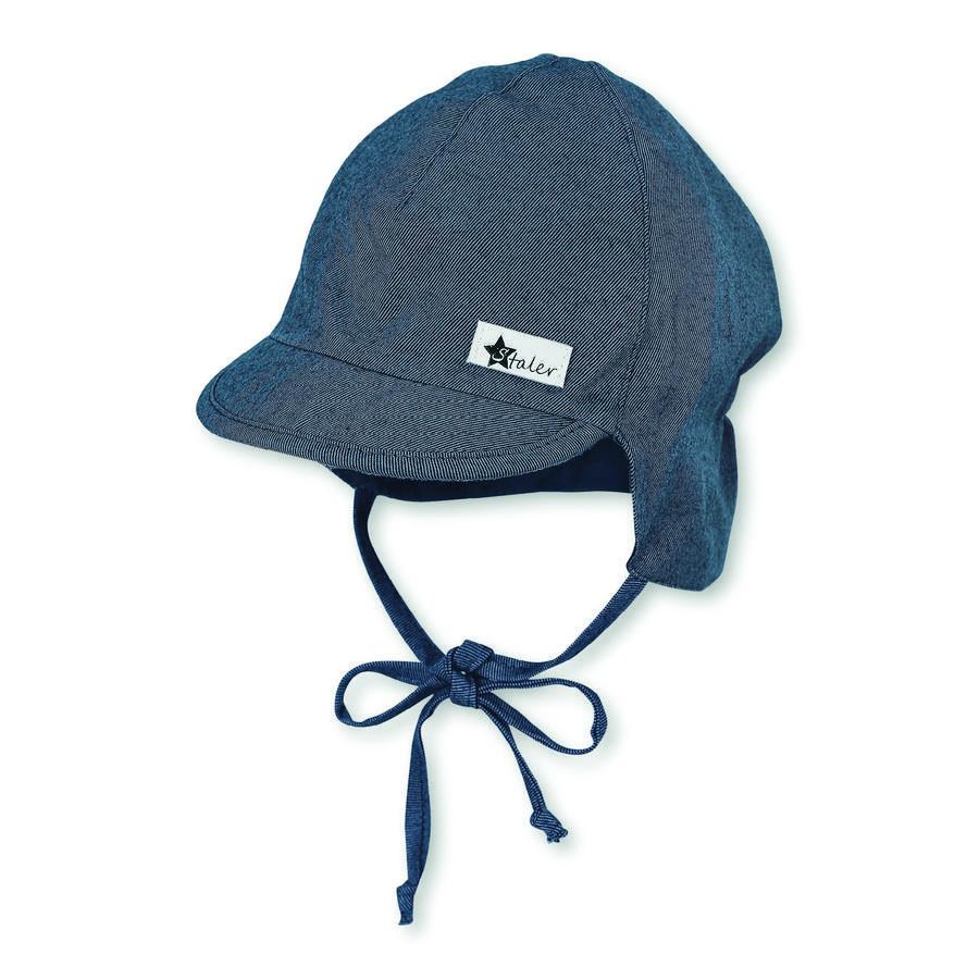 Sterntaler gorra de pico con protector de cuello azul medio