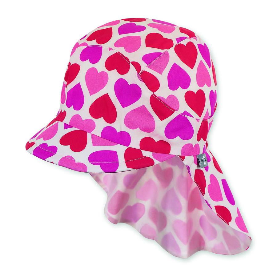 Sterntaler casquette à visière avec protection du cou rouge