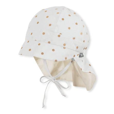 Sterntaler czapka z daszkiem z ochroną szyi ecru