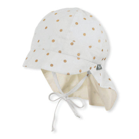 Sterntaler Schirmmütze mit Nackenschutz ecru