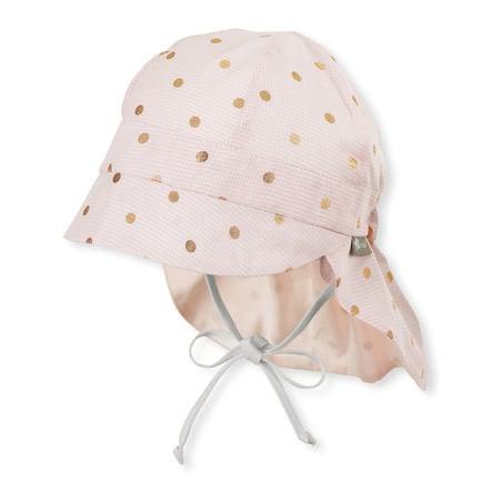 Sterntaler Peaked čepice s chráničem krku světle růžová
