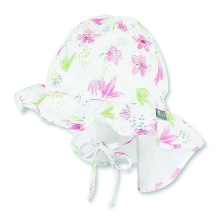 Sterntaler Chapeau à bords larges bébé, coton fleur écru