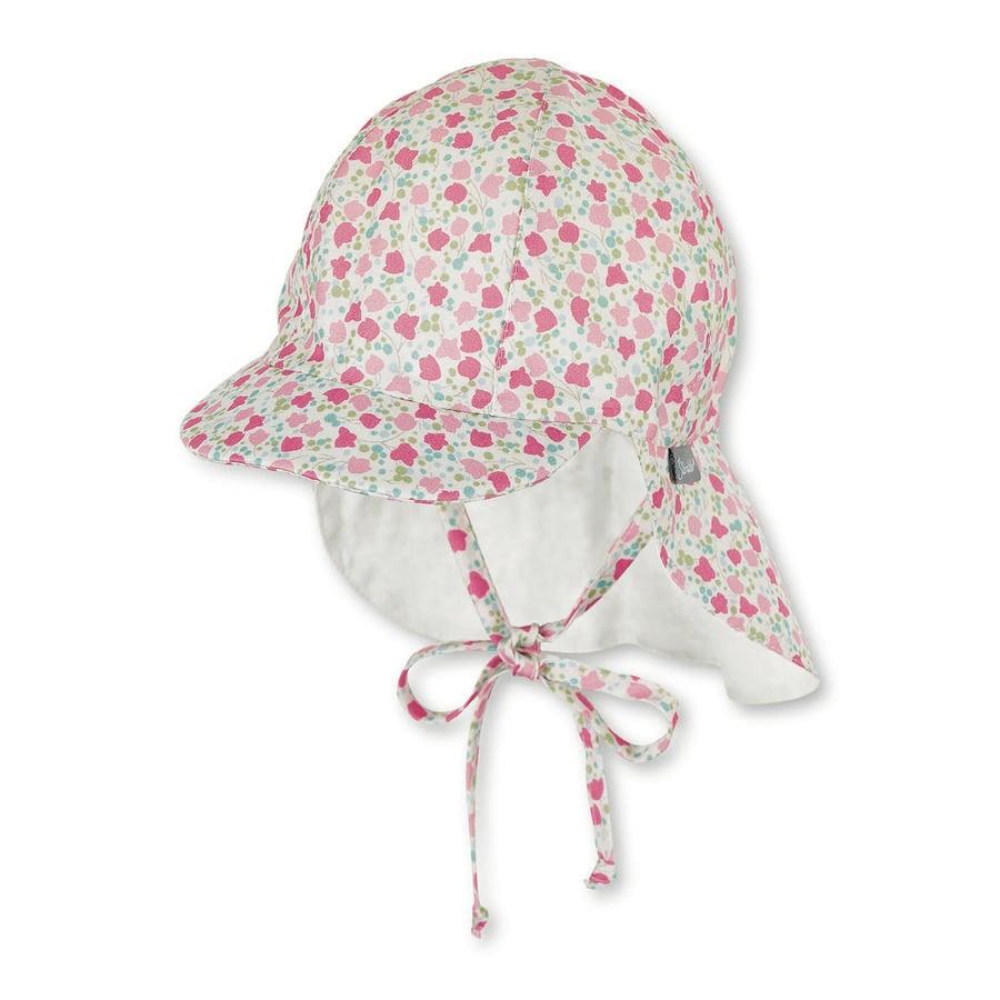 Sterntaler gorra de pico con protección de cuello rojo claro
