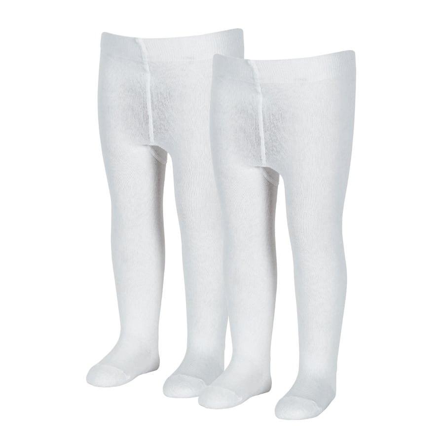 Sterntaler Strømpebukse uni dobbel pakke hvit