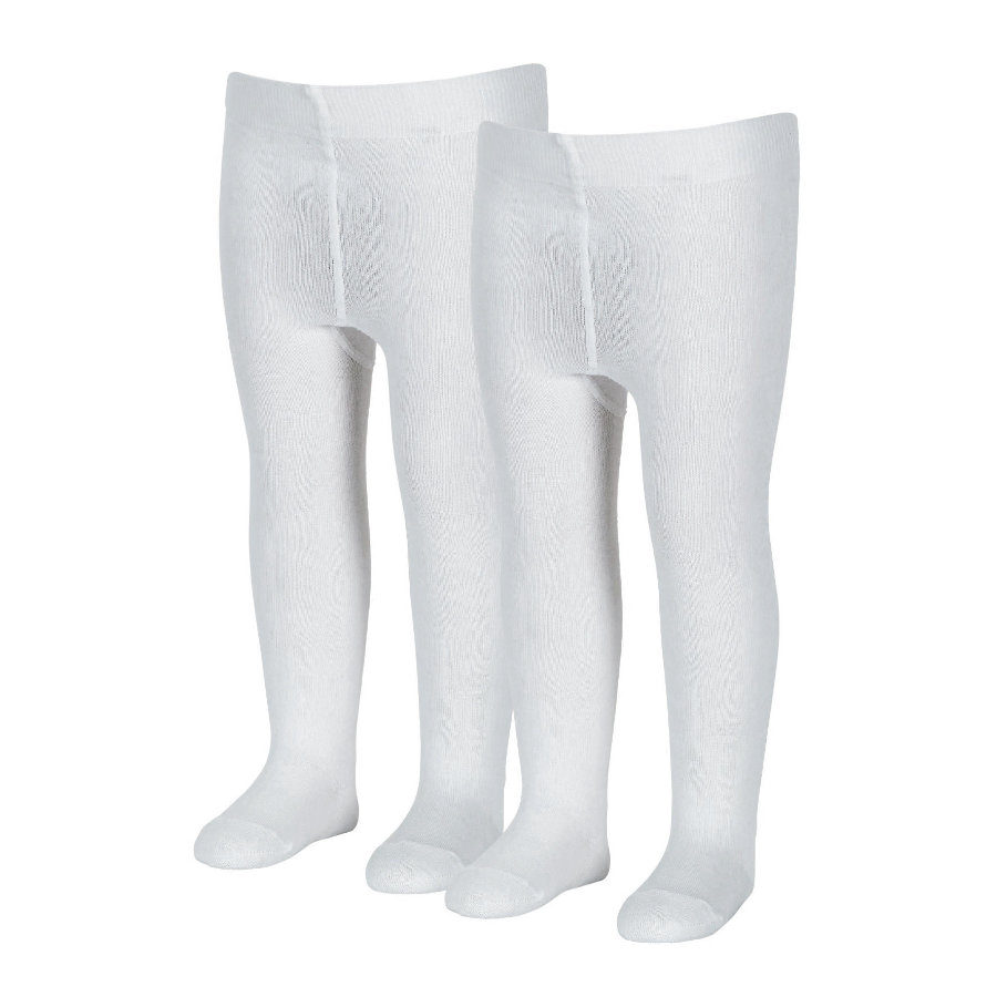 Sterntaler strømpebukser uni dobbeltpakke hvid