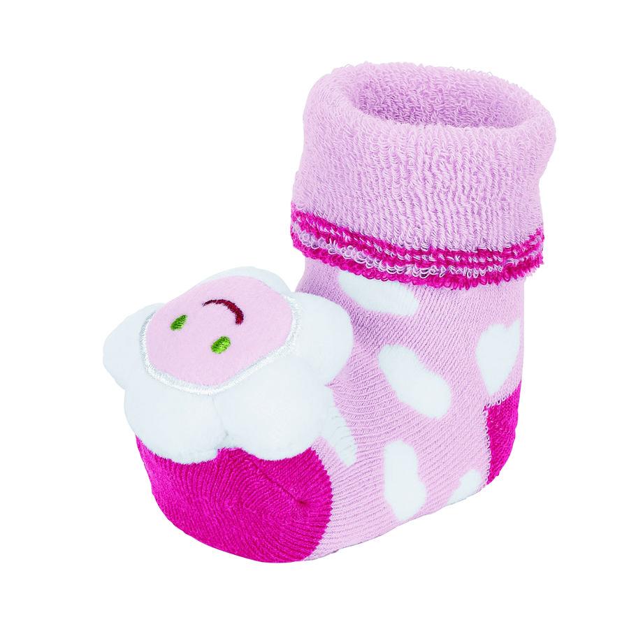Sterntaler Girls Baby-Rasselsöckchen Blume rosa